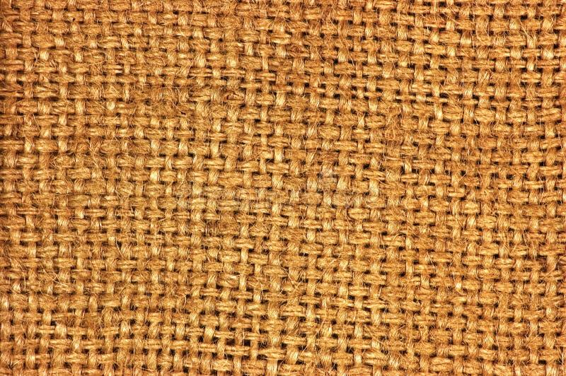 Natural textured burlap sackcloth hessian texture coffee sack pattern, dark country sacking canvas, macro background royalty free stock photos