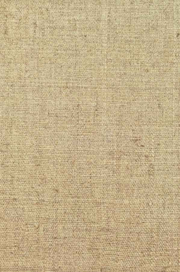 Natural textured vertical grunge burlap sackcloth hessian sack texture, grungy vintage country sacking canvas, detailed pattern. Natural textured vertical grunge stock image