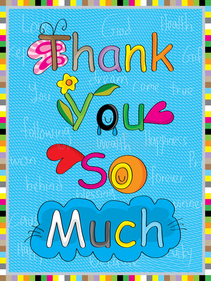 Natural thank you so much vector illustration