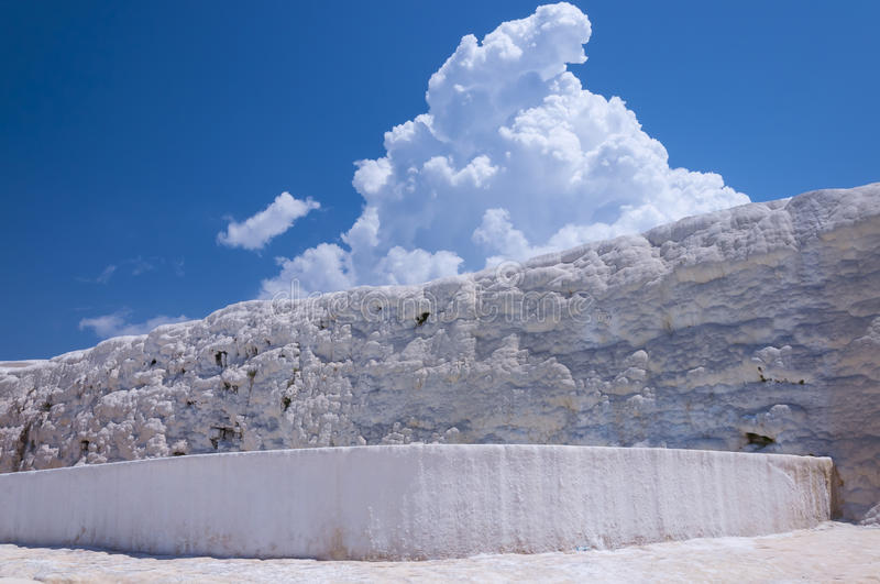 Natural travertine pools and terraces at Pamukkale, Turkey stock images