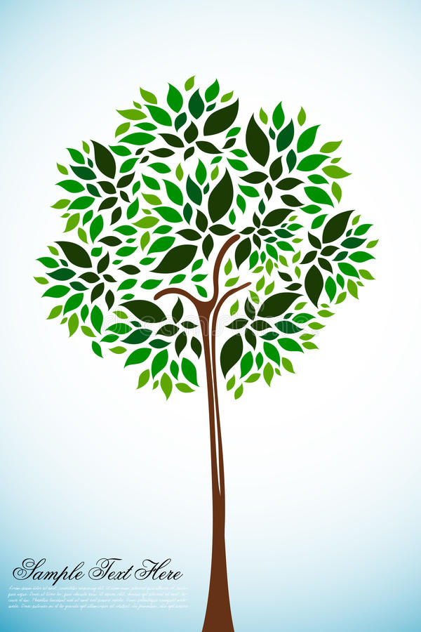 Download Natural tree stock vector. Image of icon, garden, conservation - 17548929