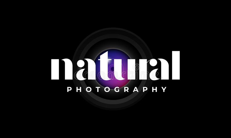 Natural photography logo design template stock photos