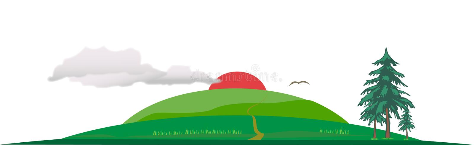 Download Natural Vector scenery stock vector. Image of area, nice - 29938044