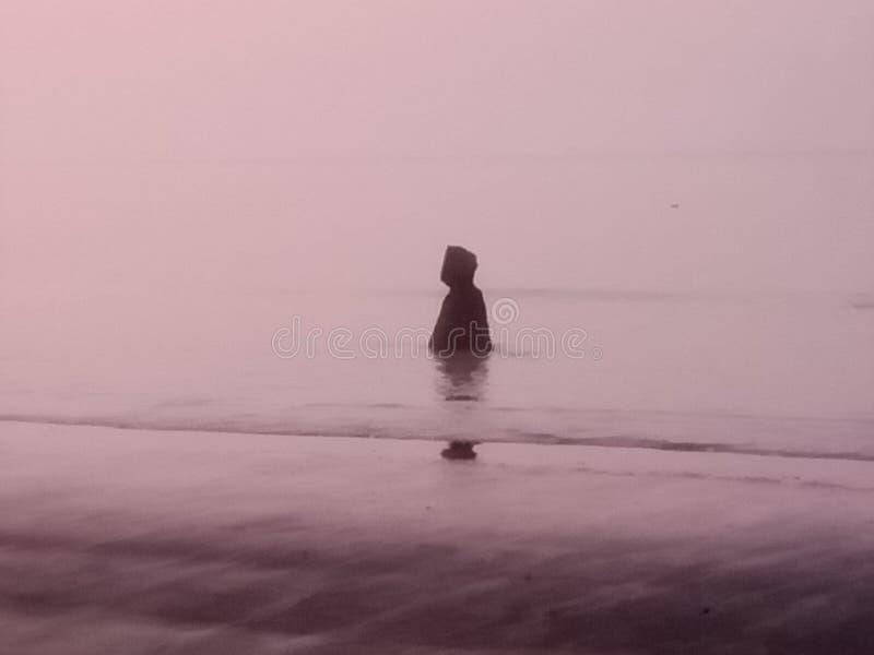 Natural Viewer Sunrise Kuakata Bay of Bengal lizenzfreie stockfotografie