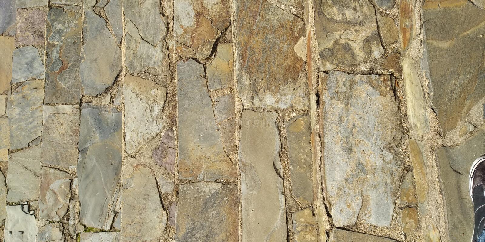 Wall Stone Texture from House royalty free stock images