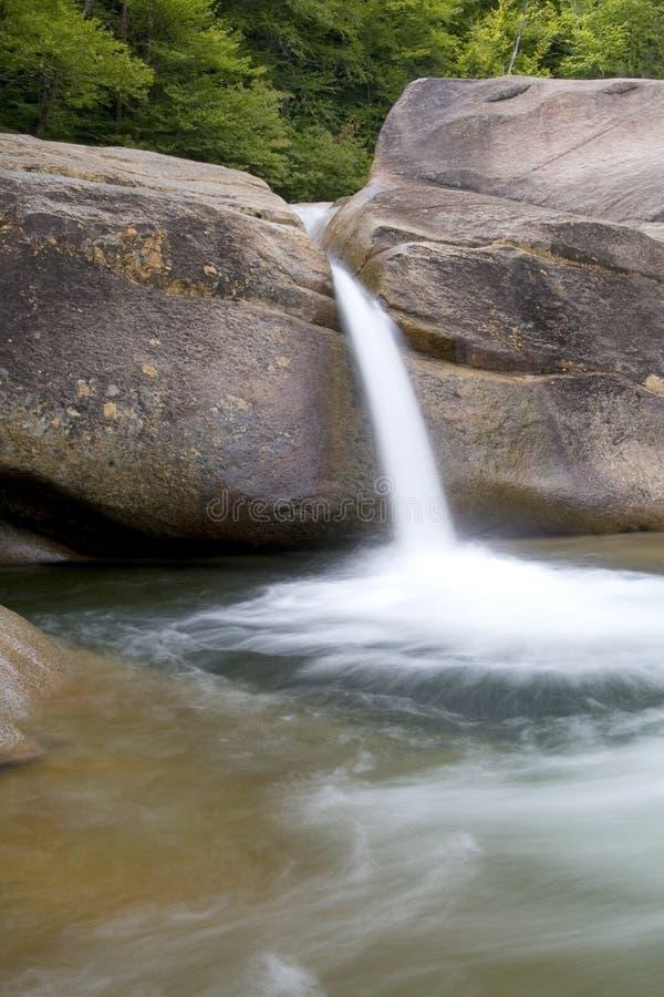 Natural Water Slide-Franconia Falls, New Hampshire royalty free stock image