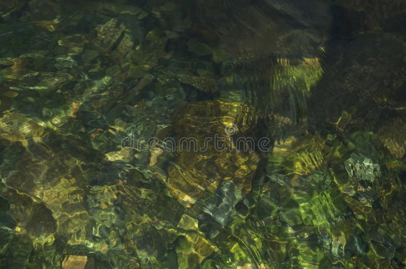Natural water texture background of mountain river royalty free stock photography