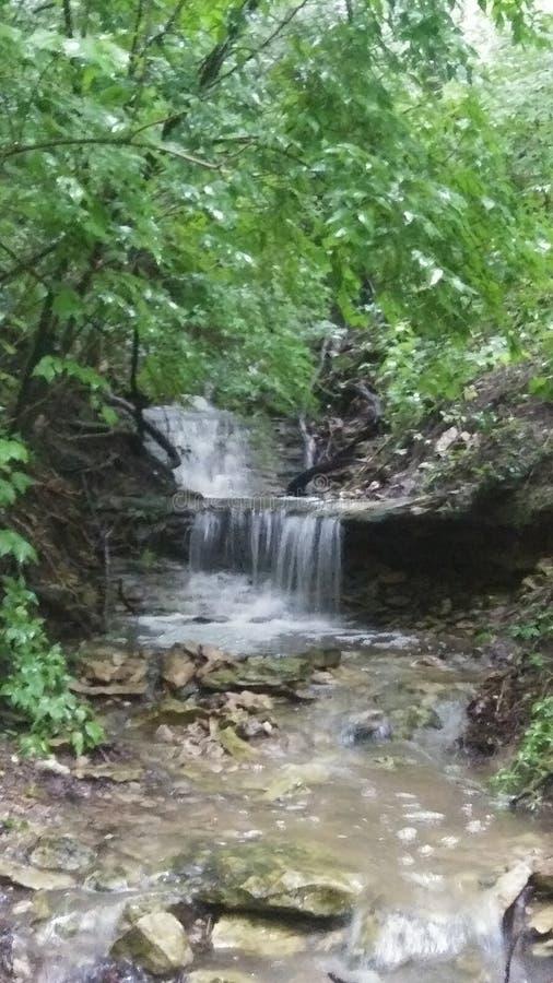 Natural Waterfall. Rains, nature, springtime stock photography