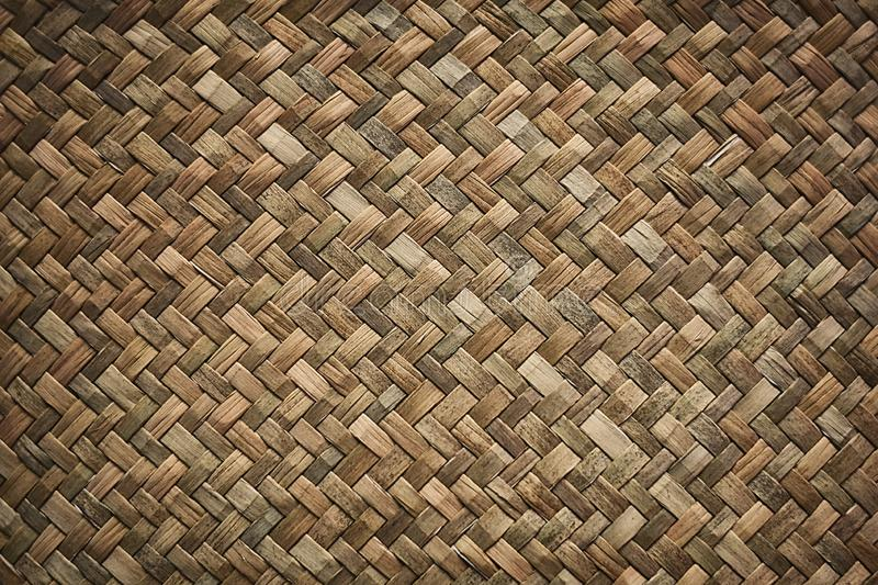 Natural wicker braided woven rattan Sedge grass texture background royalty free stock image