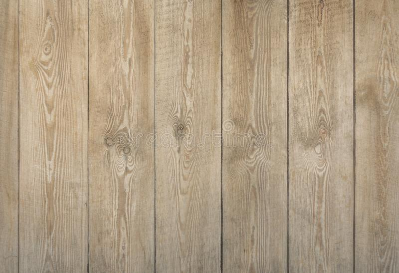 Natural wood boards texture of light brown color royalty free stock image