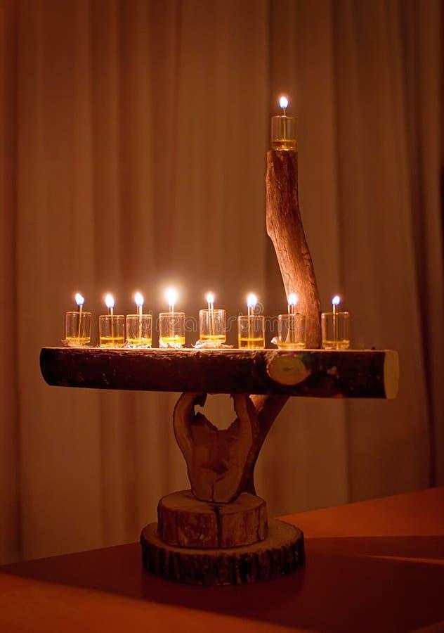 Download Natural wood menorah stock image. Image of holiday, jewish - 19422299