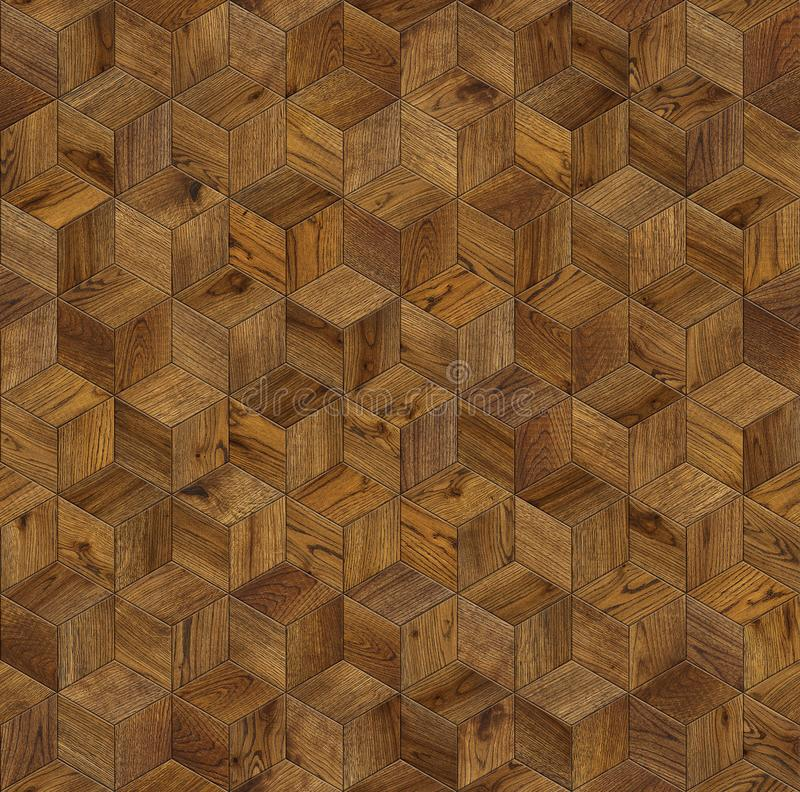 Natural wooden background cube 3d stock photography