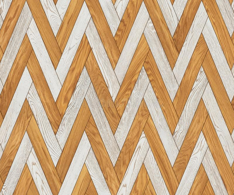 Natural wooden background herringbone, design seamless texture stock image