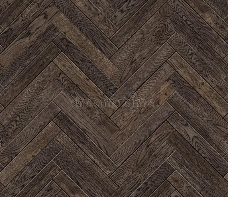 Natural wooden background herringbone, grunge parquet flooring design seamless texture stock images