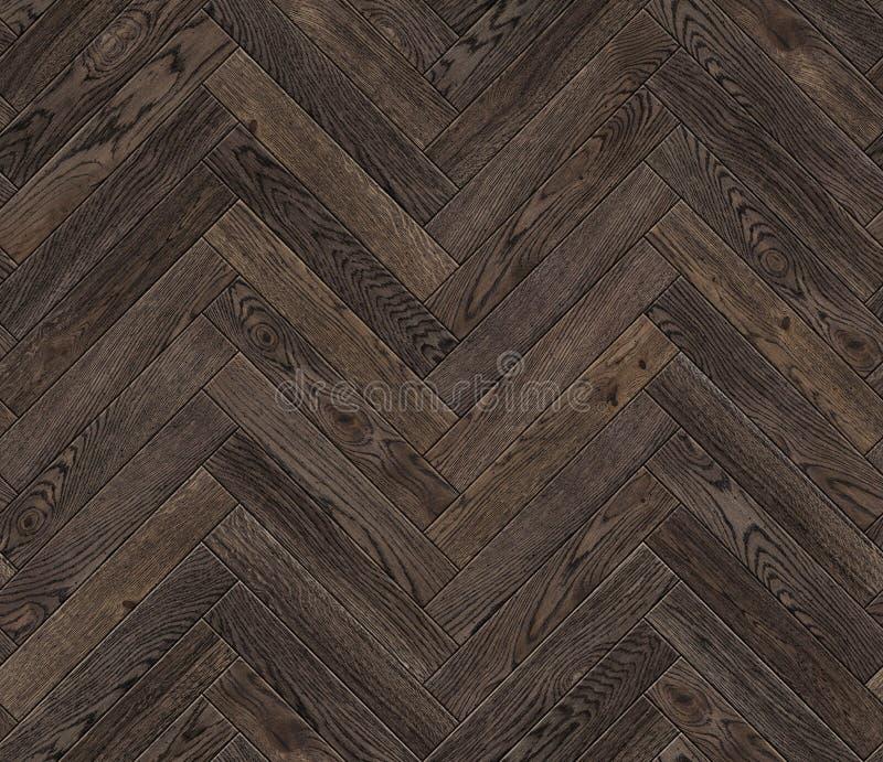 Natural wooden background herringbone, grunge parquet flooring design seamless texture. For 3d interior stock illustration