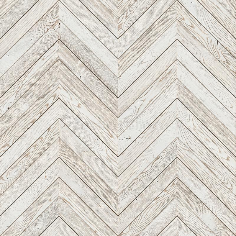 Natural wooden background herringbone, white grunge parquet flooring royalty free stock photos