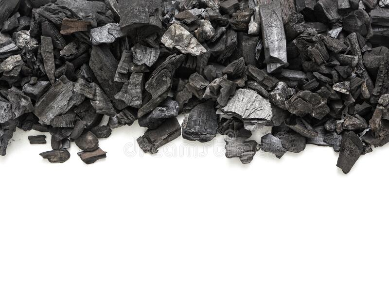 Natural wooden charcoal royalty free stock photo