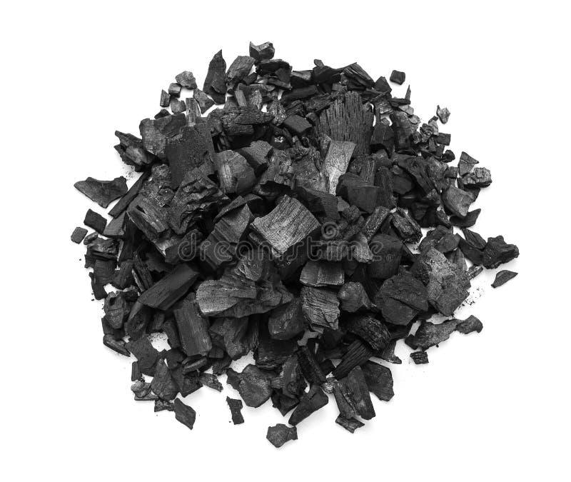 Natural wooden charcoal royalty free stock photos