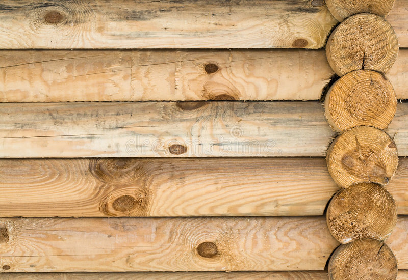 Natural wooden structure. stock photo