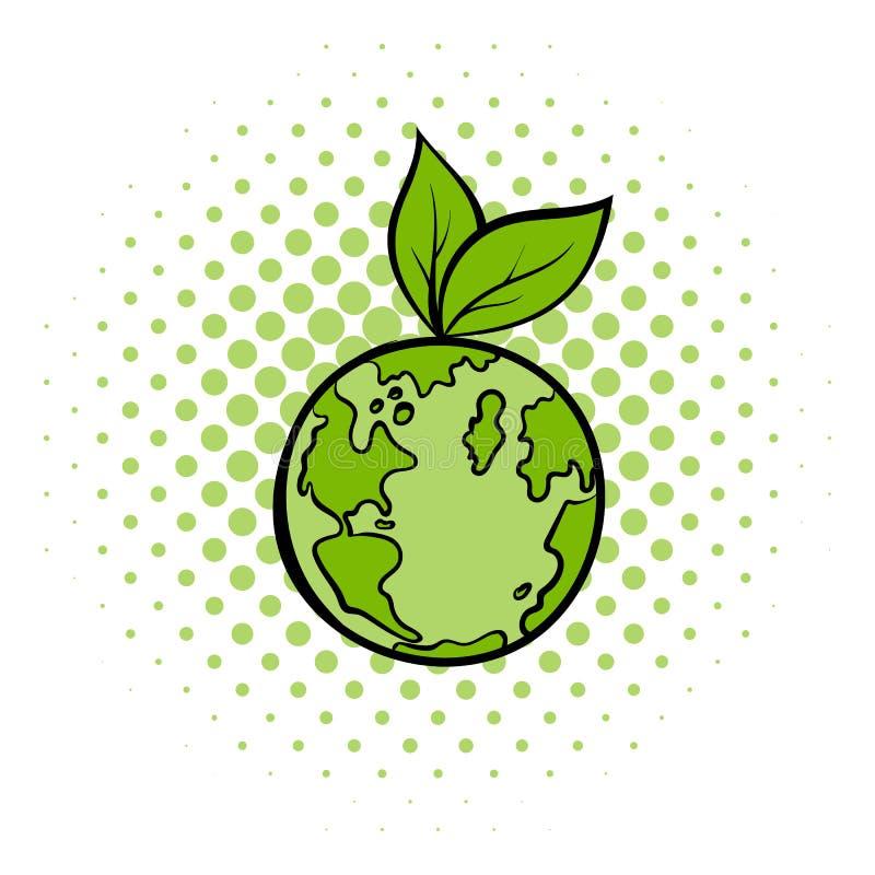 Natural world comics icon. Ecology symbol on a white background stock illustration