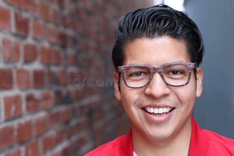 Natural young man smiling close up royalty free stock images
