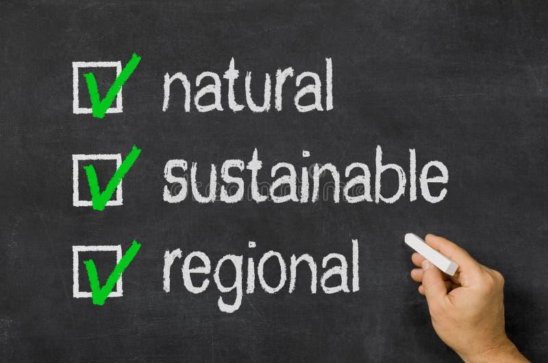 Naturale, sostenibile, regionale immagine stock libera da diritti