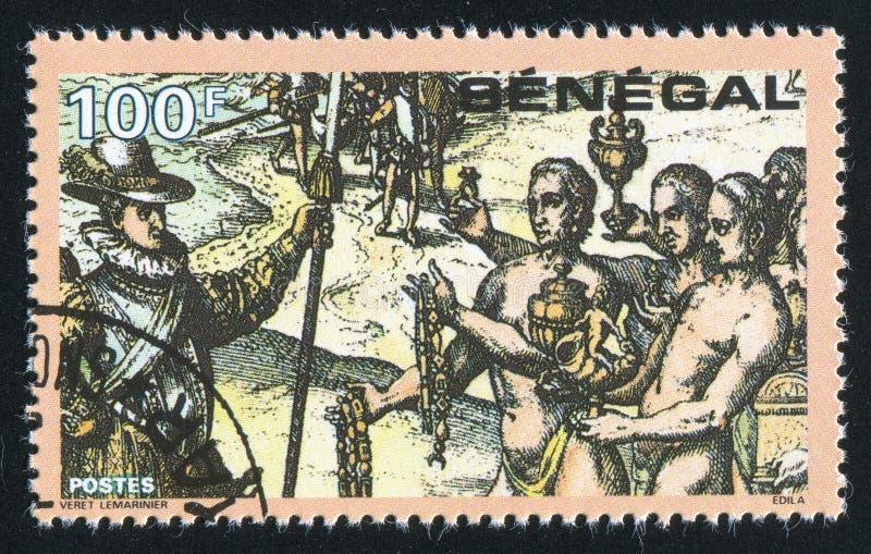 Naturales de Columbus Meeting Haitian imagen de archivo