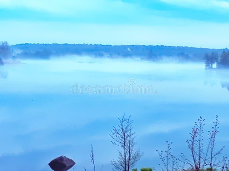 Naturaleza, agua, niebla, paisaje, bahía fotografía de archivo
