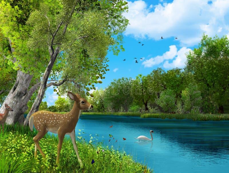 Naturaleza animal sin tocar hermosa Paradies Eden libre illustration
