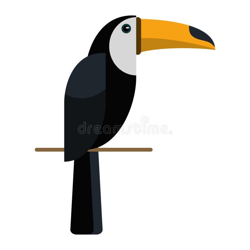 Naturaleza brasileña del pájaro del tucán libre illustration
