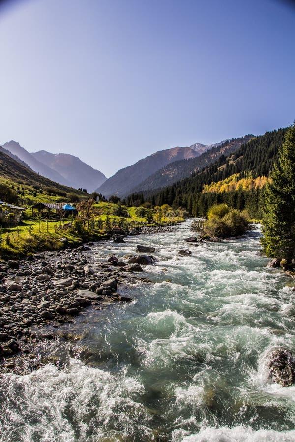 Naturaleza de Kirgiz del área de Kol del Ala fotografía de archivo libre de regalías
