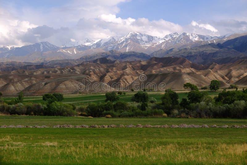 Naturaleza de Kirguistán foto de archivo
