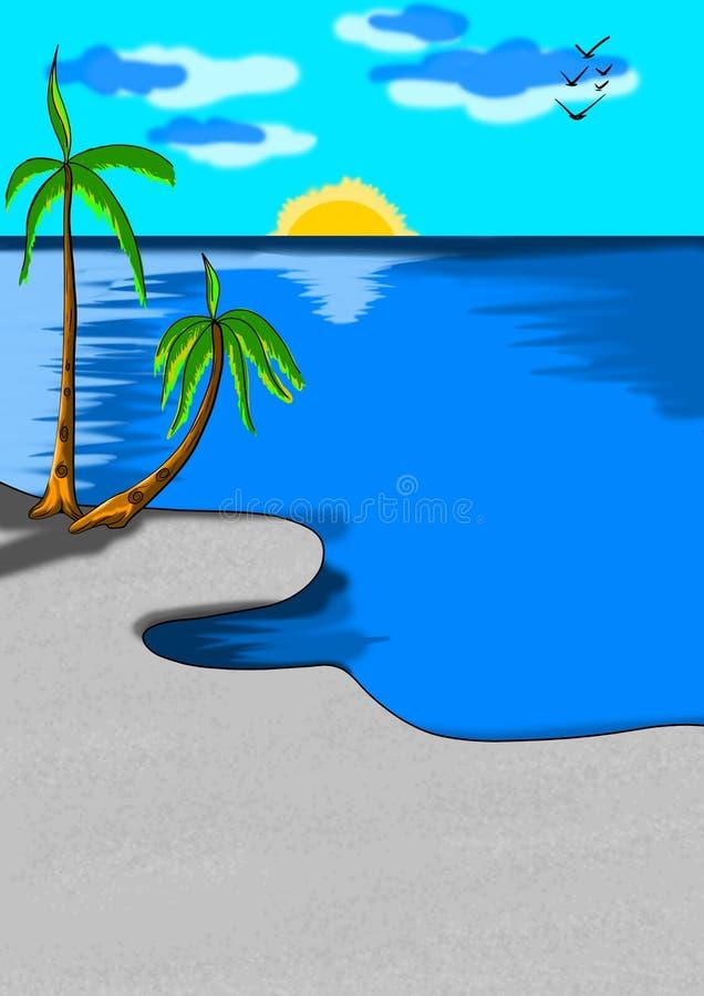 naturaleza de la belleza de la playa en el mundo stock de ilustración