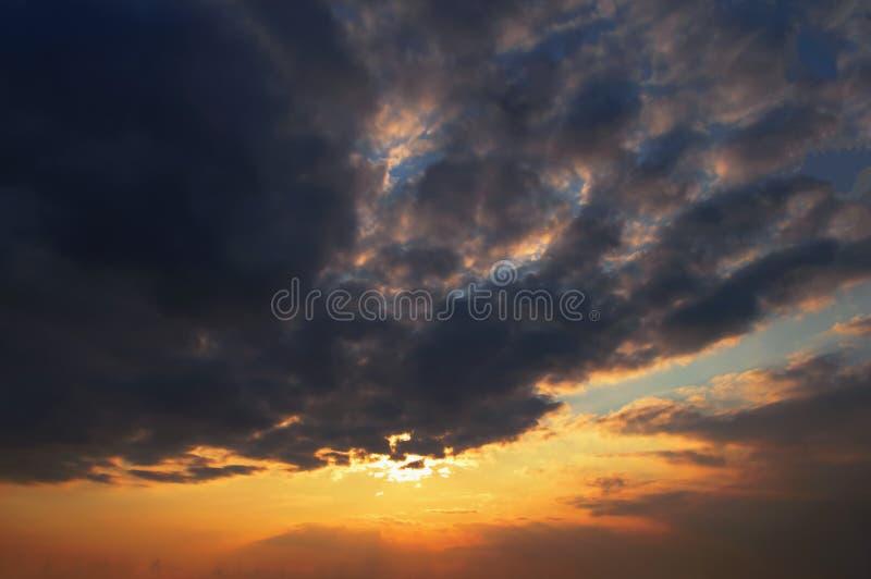 Naturaleza de la puesta del sol fotos de archivo