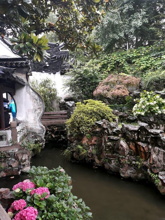 Naturaleza del jardín de Shangai Yu imágenes de archivo libres de regalías