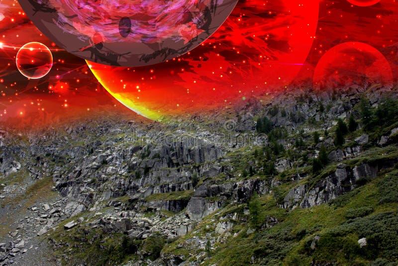 naturaleza del paisaje del cosmos starry imágenes de archivo libres de regalías