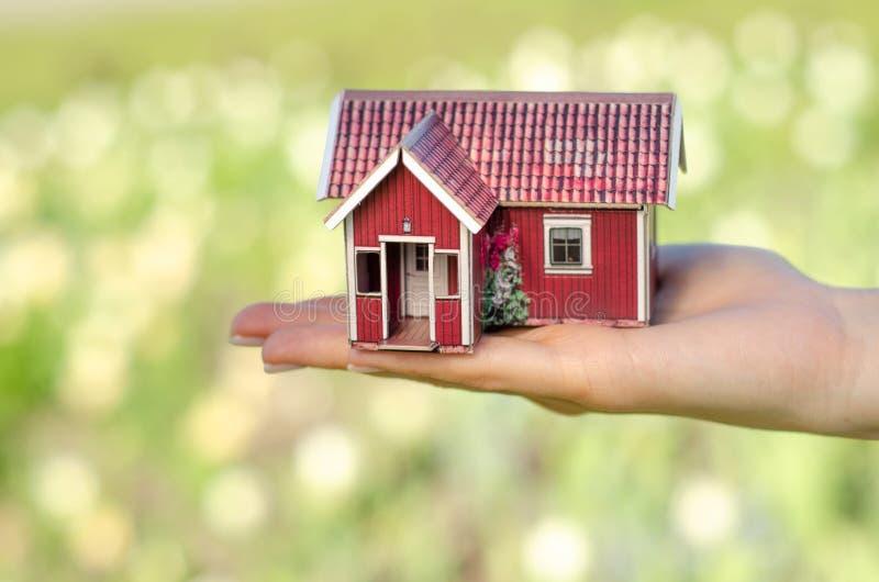 Naturaleza disponible del verde del sol de la pequeña casa imagen de archivo libre de regalías
