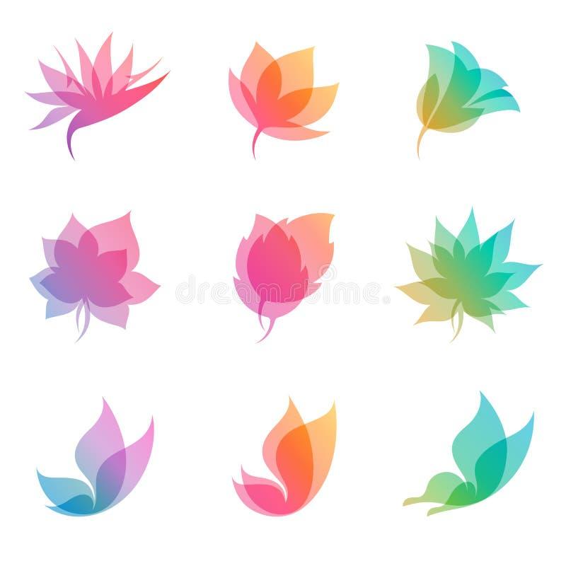 Naturaleza en colores pastel. Elementos para el diseño. libre illustration