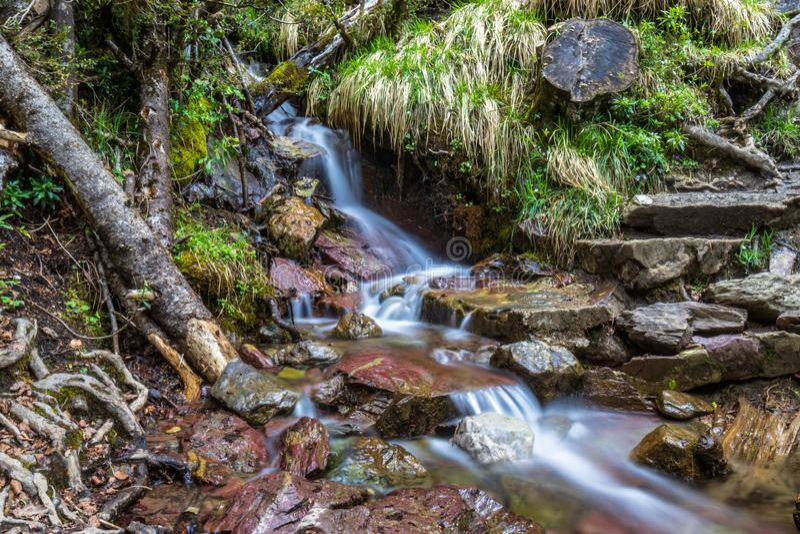 Naturaleza Espa?a Huesca de la cascada imágenes de archivo libres de regalías