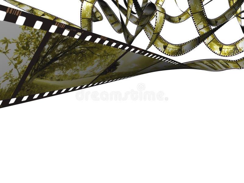 Naturaleza Filmstrip stock de ilustración
