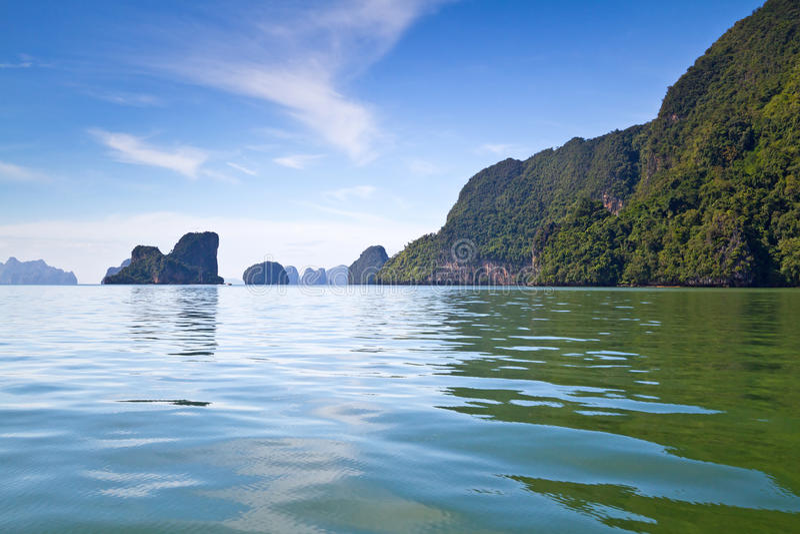 Naturaleza Hermosa De La Bahía De Phang Nga Fotos de archivo