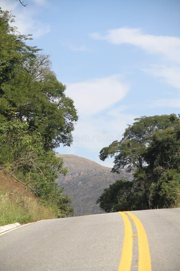 Naturaleza Lavras Minas Gerais Brazil de la montaña de MG 354 de la carretera del paisaje foto de archivo libre de regalías
