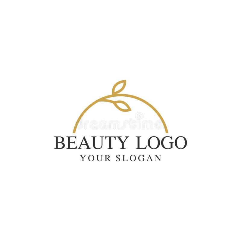 naturaleza, plantilla del logotipo de la hoja del árbol, vector del diseño stock de ilustración