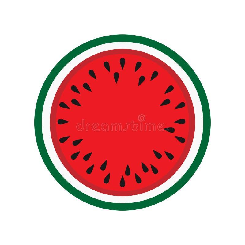 Naturaleza vegetariana sabrosa del postre de la sandía Fondo maduro tropical natural del vector Vitamina deliciosa del nutrion de stock de ilustración