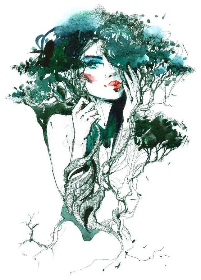 Naturaleza y belleza libre illustration
