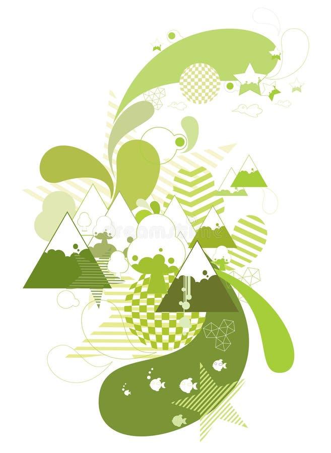 Naturaleza y montañas abstractas libre illustration