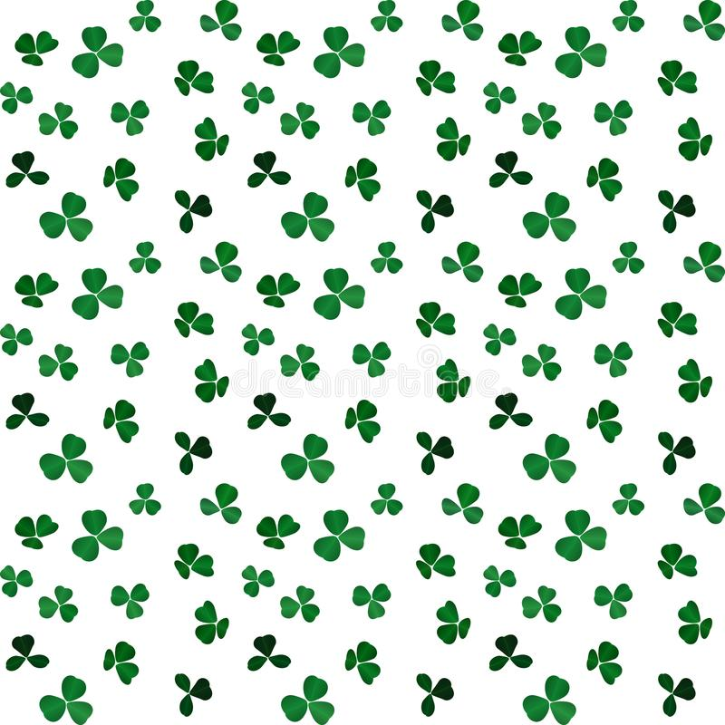 Naturalistic colorful Seamless pattern of green clover. Vector Illustration. vector illustration