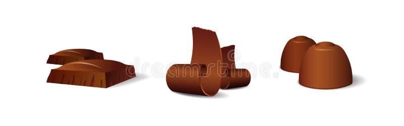 Naturalistische Chocolade vector illustratie
