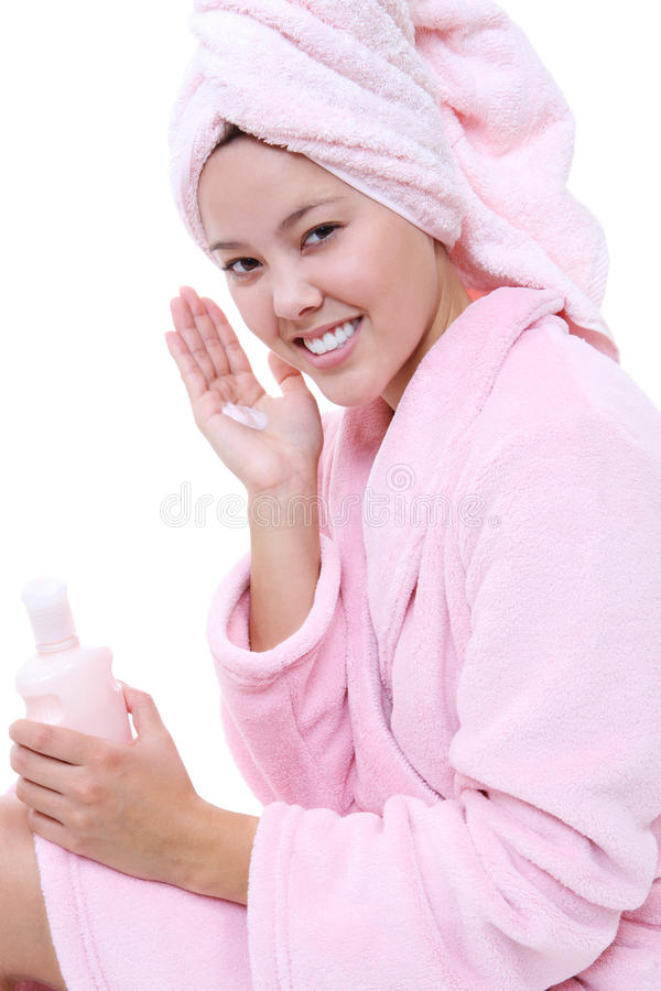 Naturally Beautiful Woman stock photo
