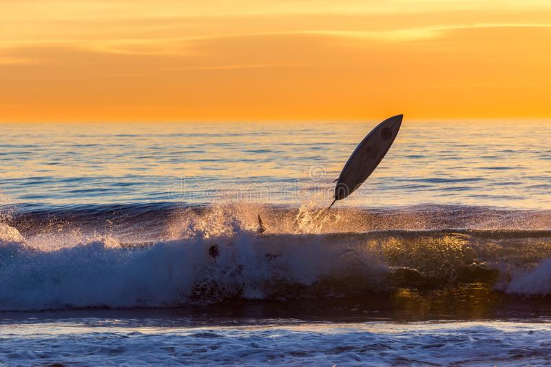 Sunset Wipeout! stock photo